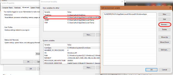 Windows Path variables