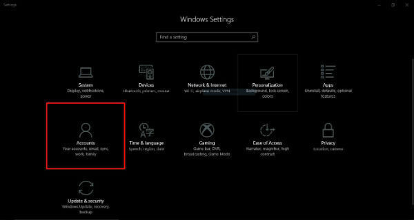 Windows10 Home Settings
