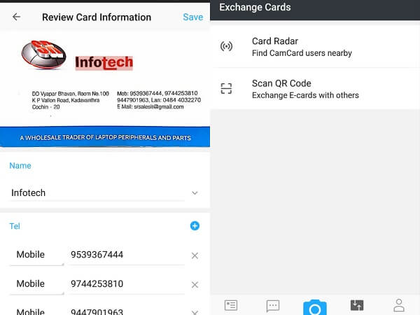7 Best Business Card Scanner Apps For Android Mashtips