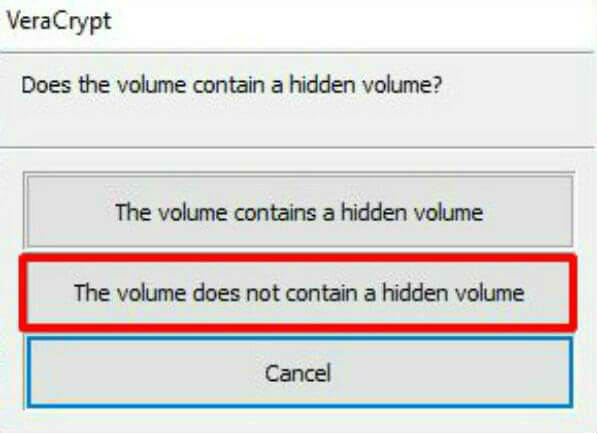 VeraCrypt Volume Type