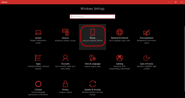 Windows 10 Settings