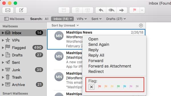 Apple Mail Flag