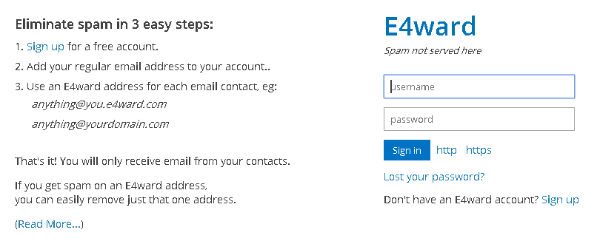 E4ward Disposable Email Service