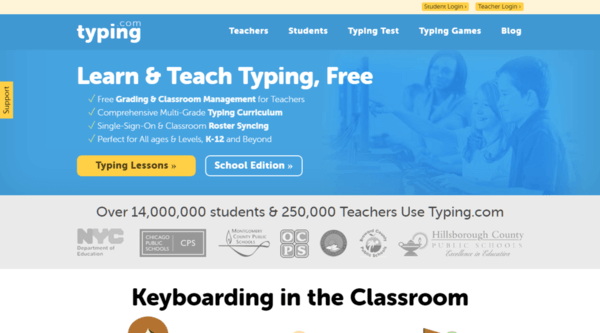 Typing com