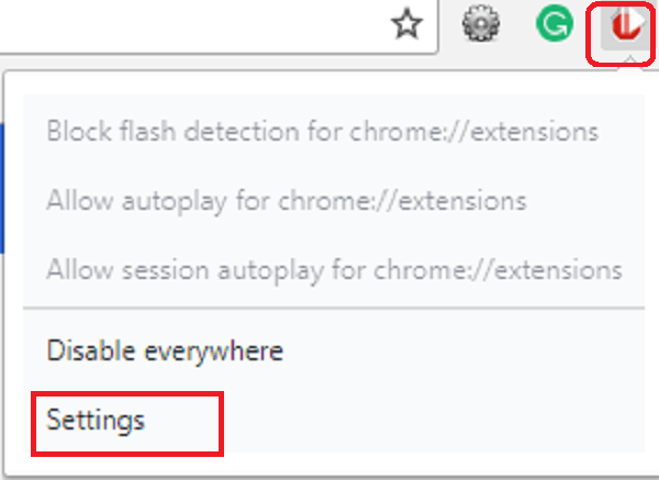 Autoplaystopper settings chrome