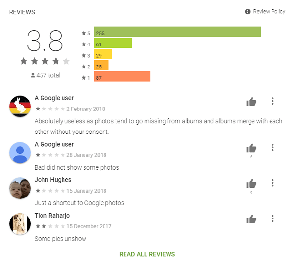 Google Play Store Photo Gallery App Reviews