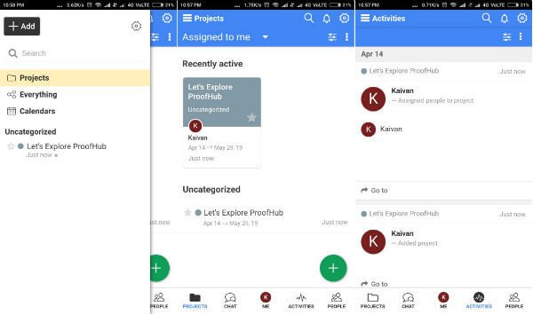 Proofhub android team management app