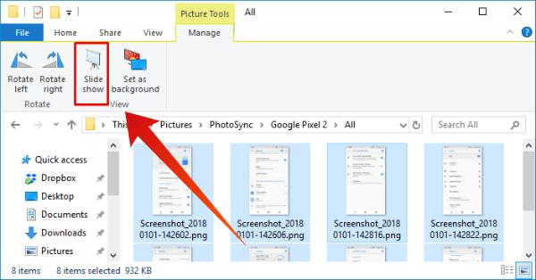 Windows10 Images Slideshow