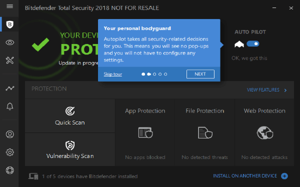 Bitdefender Total Security 2018 Autopilot