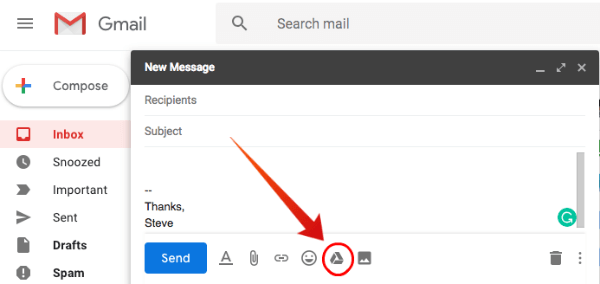 Gmail Attach Large File