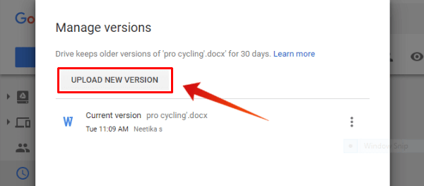 Google Drive File Upload New Version
