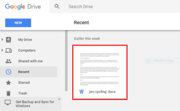 Google Drive Original File