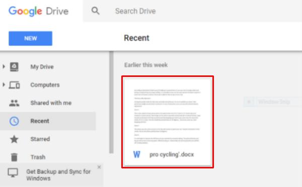 Google Drive Original File