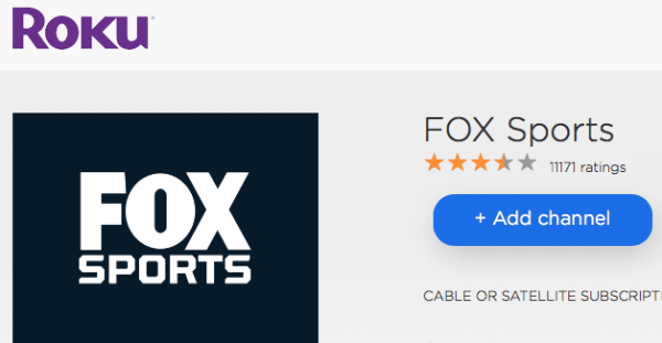 Fox Sports Roku Channel