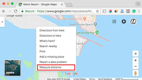 Google Map Measure Distance