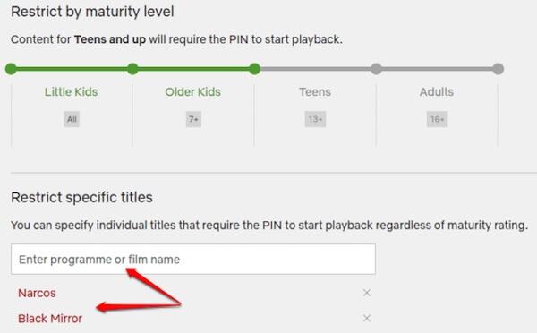 Netflix Restrict Titles Windows