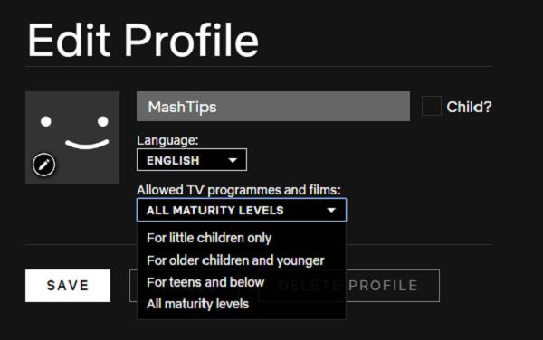 Windows chrome netflix maturity levels