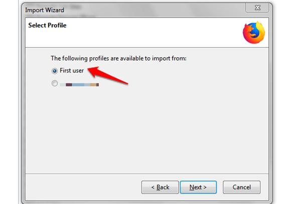windows firefox choose chrome profile