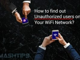 Find Unauthorized Users WiFi