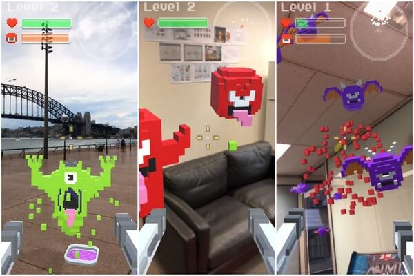 Best AR games for iOS - Ghosts and Guns