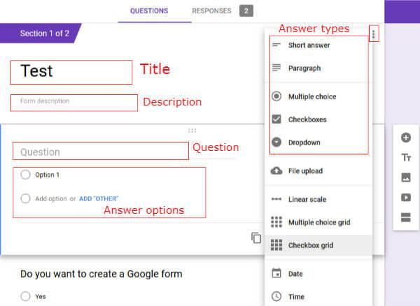 Google form design