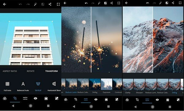 android Photoshop Express raw image editor