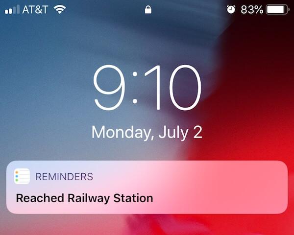 iOS Location Reminder