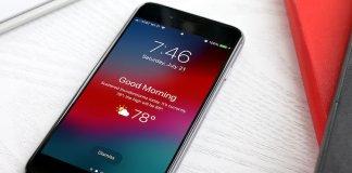 Display iPhone Weather Lock Screen
