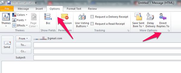 windows gmail options
