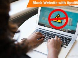 Block Website OpenDNS