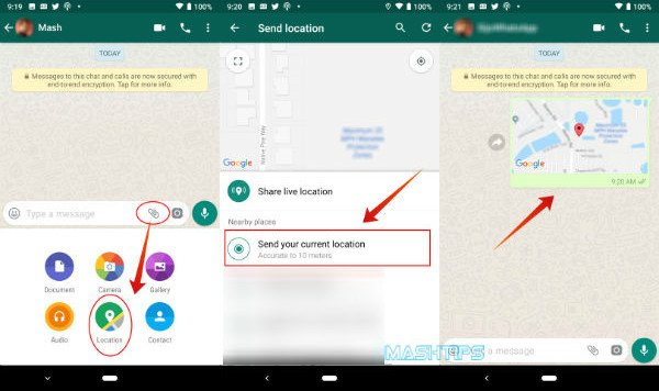 Share Location WhatsApp