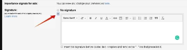 Signature in Gmail