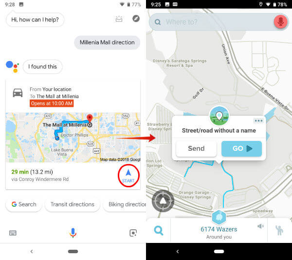 Waze Default Google Assistance