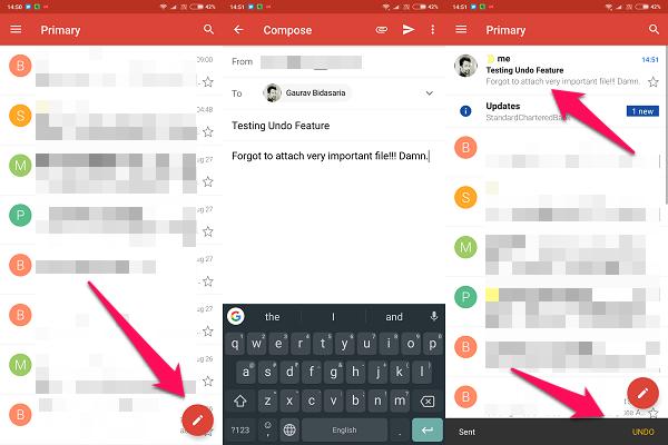android gmail undo sent option
