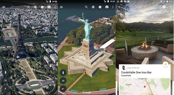 android google earth street view