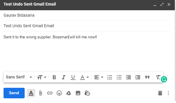windows chrome gmail compose email