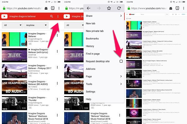 Android Firefox YouTube