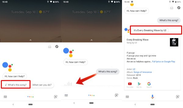 Identify Song Google Assistant