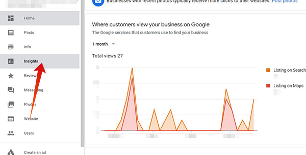 Insights in Google My Business