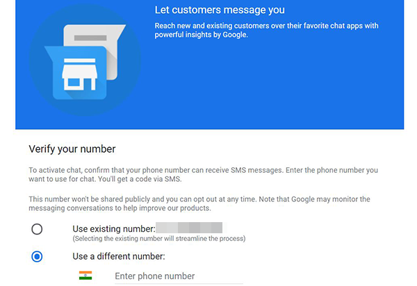 Messaging in Google My Business