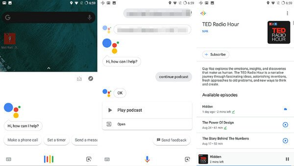 Play podcasts through Google Assistant