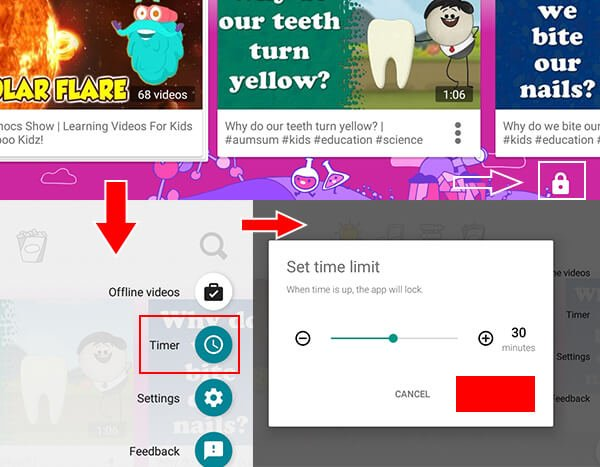 Set time limit in Youtube Kids