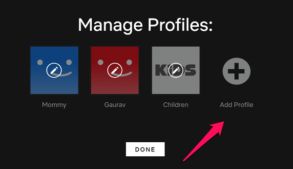 chrome netflix profiles