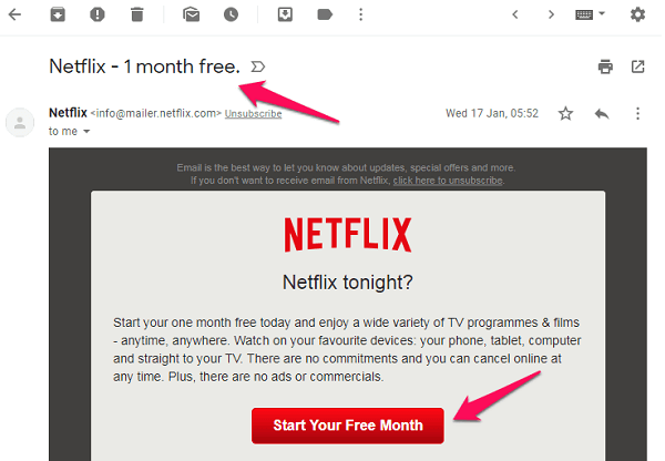 chrome gmail netflix