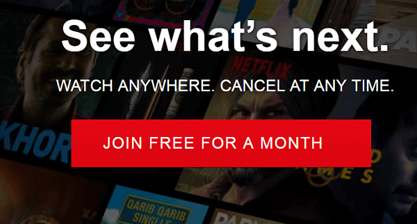 chrome netflix free trial
