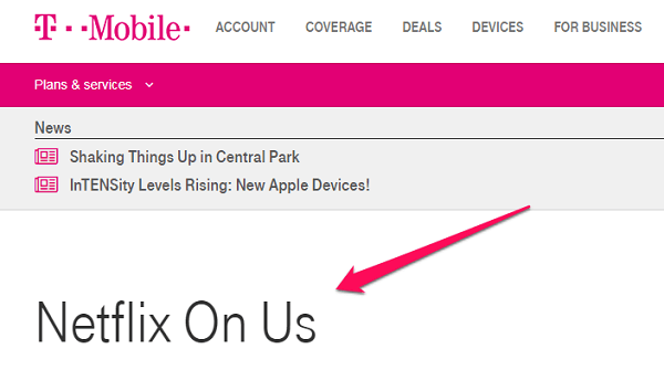 chrome netflix t-mobile