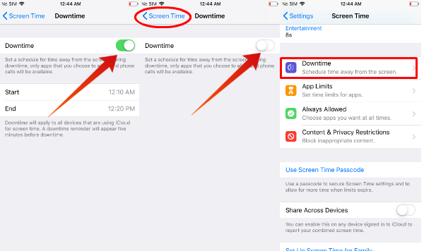 iPhone turn off downtime