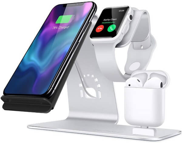 3-in-1 aluminum apple watch stand