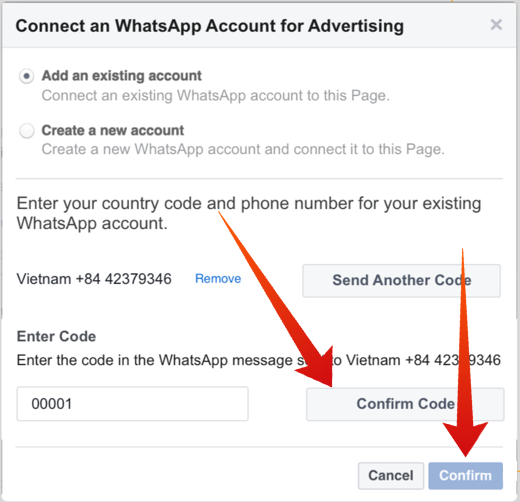 Run a Facebook Ad with WhatsApp Button 3