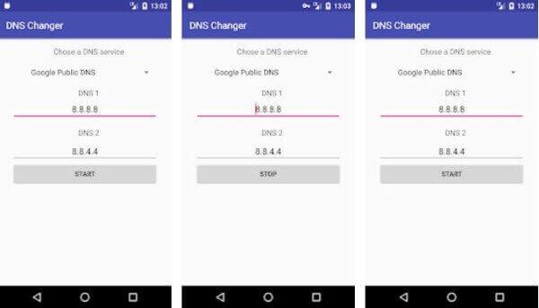 Androdi Data Setting DNS Change